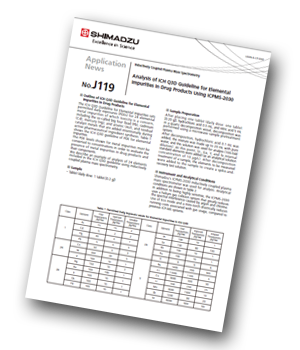 Shimadzu_analysis of ICH Q3D guideline for elemental impurities in drug products