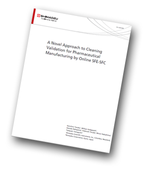Cleaning validation for pharmaceutical manufacturing by online SFE/SFC