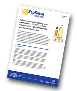 SepSolve-reliable-speciation-of-fatty-acid-methyl-esters