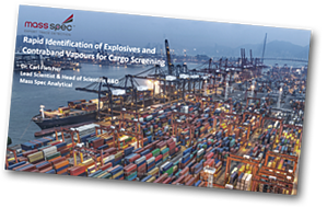 Rapid identification of explosives and contraband vapours for cargo screening
